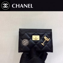 CHANEL 80553 香奈兒時尚新款原單限量版徽章包胎牛皮小卡包