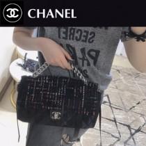 CHANEL 01169-2 專櫃最新品原單尼龍拼粗花大號單肩斜挎包口蓋包