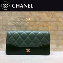 CHANEL 84387 香奈兒新款原單時尚經典流浪包系列胎牛皮拼色對折錢夾