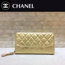 CHANEL 84385-4 香奈兒時尚新款原單流浪包系列胎牛皮拼色拉鏈錢夾