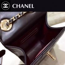 CHANEL 84074-2 香奈兒新款原單進口羊皮五金Logo手機包 能裝iPhone8 8splus