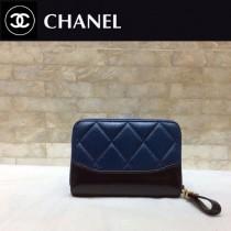 CHANEL 84384 香奈兒新款原單時尚經典新品流浪包系列胎牛皮拼色卡包 錢包