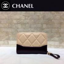CHANEL 84384-2 香奈兒新款原單時尚經典新品流浪包系列胎牛皮拼色卡包 錢包