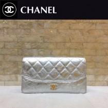 CHANEL 84387-5 香奈兒新款原單時尚經典流浪包系列胎牛皮拼色對折錢夾
