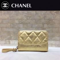 CHANEL 84384-1 香奈兒新款原單時尚經典新品流浪包系列胎牛皮拼色卡包 錢包