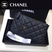 CHANEL 88632 香奈兒時尚經典新款原單球紋皮手機包卡包 簡約大容量設計