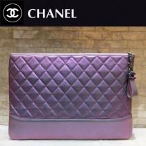 CHANEL 84288-5 香奈兒新款原單時尚經典炫酷七彩幻彩胎牛皮手包信封包