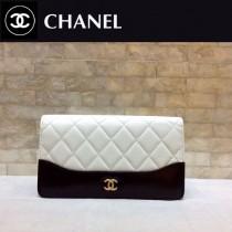 CHANEL 84387-3 香奈兒新款原單時尚經典流浪包系列胎牛皮拼色對折錢夾