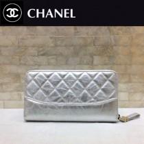 CHANEL 84385-5 香奈兒時尚新款原單流浪包系列胎牛皮拼色拉鏈錢夾