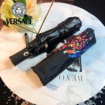 VERSACE雨傘-01 范思哲原單花卉與鳥印花防紫外線自動折疊晴雨傘