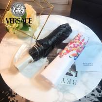 VERSACE雨傘-01-2 范思哲原單花卉與鳥印花防紫外線自動折疊晴雨傘
