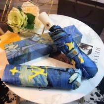 Louis Vuitton雨傘-03 路易威登專櫃夏季新款梵高經典油畫圖案全自動折疊晴雨傘