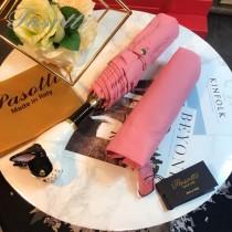 Pasotti-04-3 萌塔匯可愛新品原單釉彩狗頭手把防曬半自動折疊晴雨傘
