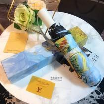 Louis Vuitton雨傘-05 路易威登專櫃夏季新款梵高經典油畫圖案全自動折疊晴雨傘