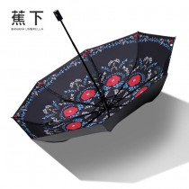 Banana Umbrella-03 蕉下夏季爆款防紫外線自動折疊晴雨傘小黑傘