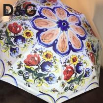 D&G雨傘-02 杜嘉班納全自動強力拒水黑膠高端數碼印花晴雨傘 分內外花兩色