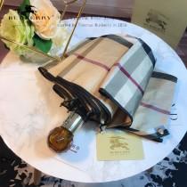 Burberry雨傘-01 巴寶莉最新款原單品質經典格子花邊全自動折疊晴雨傘