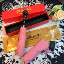 Pasotti-04-7 萌塔匯可愛新品原單釉彩貓頭手把防曬半自動折疊晴雨傘