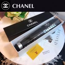 CHANEL雨傘-07 香奈兒亞太專櫃最新款山茶花全自動UV晴雨傘 全黑鋼材質全自動折疊晴雨傘