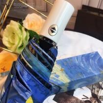 Louis Vuitton雨傘-06 路易威登專櫃夏季新款梵高經典油畫圖案全自動折疊晴雨傘