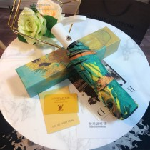 Louis Vuitton雨傘-04 路易威登專櫃夏季新款梵高經典油畫圖案全自動折疊晴雨傘