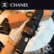 CHANEL雨傘-01 香奈兒維納斯的愛鳥簡約唯美的貓頭鷹圖案全黑鋼材質全自動折疊晴雨傘