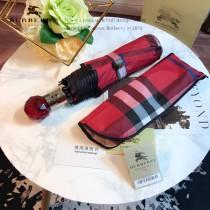 Burberry雨傘-02 巴寶莉最新款原單品質經典格子花邊全自動折疊晴雨傘