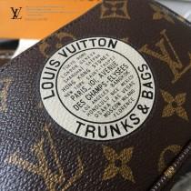 LV-M60153 路易威登新款時尚原版皮老花臺灣原產精美徽章彩繪圖案小挎包