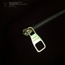 LV-43546 路易威登新款時尚經典Monogram Flower 挂锁米色原版皮LU Hobo手袋