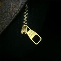 LV-43545 路易威登新款時尚經典Monogram Flower 挂锁黑色原版皮LU Hobo手袋