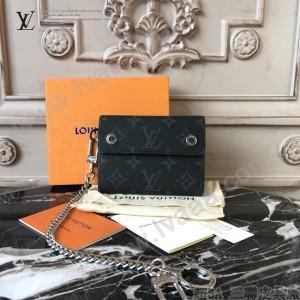 LV-M63510A 路易威登新款時尚原單LU RIVETS CHAIN短款鑰匙扣錢包