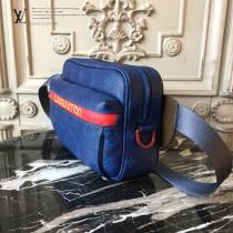 LV-M43827 路易威登新款時尚原單LU春夏秀款男女同款藍色斜挎胸包