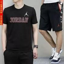 男子套裝2018夏新款籃球運動休閑透氣吸濕短袖透氣五分褲短褲