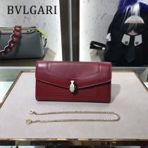 Bvlgari原單-281815-03 寶格麗原單時尚新款外出百搭進口胎牛皮鏈條包