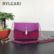 Bvlgari原單-0021-01 寶格麗意大利最高級定制魔鬼珍珠魚配光面小牛皮斜背包