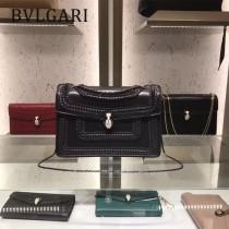 Bvlgari原單-38701-03 寶格麗原單時尚新款外出百搭胎牛皮蛇頭包