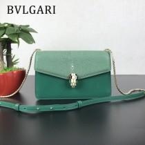 Bvlgari原單-0021 寶格麗意大利最高級定制魔鬼珍珠魚配光面小牛皮斜背包