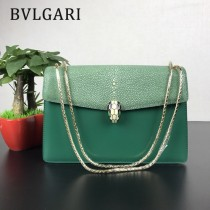 Bvlgari原單-0019 寶格麗意大利最高級定制魔鬼珍珠魚配光面小牛皮斜背包
