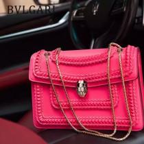 Bvlgari原單-38701-05 寶格麗原單時尚新款外出百搭胎牛皮蛇頭包