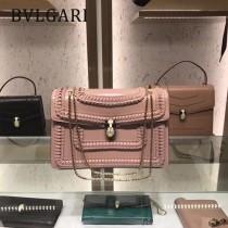 Bvlgari原單-38701-02 寶格麗原單時尚新款外出百搭胎牛皮蛇頭包