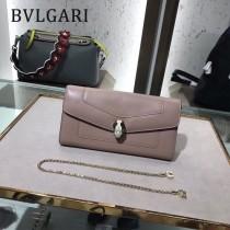 Bvlgari原單-281815-02 寶格麗原單時尚新款外出百搭進口胎牛皮鏈條包