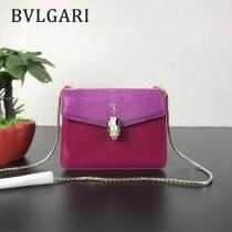 Bvlgari原單-0020 寶格麗意大利最高級定制魔鬼珍珠魚配光面小牛皮斜背包