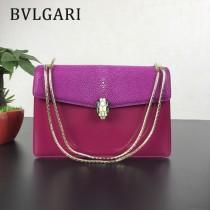 Bvlgari原單-0019-01 寶格麗意大利最高級定制魔鬼珍珠魚配光面小牛皮斜背包