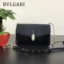Bvlgari原單-0021-02 寶格麗意大利最高級定制魔鬼珍珠魚配光面小牛皮斜背包