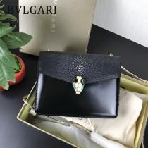 Bvlgari原單-0020-02 寶格麗意大利最高級定制魔鬼珍珠魚配光面小牛皮斜背包