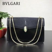 Bvlgari原單-0019-02 寶格麗意大利最高級定制魔鬼珍珠魚配光面小牛皮斜背包