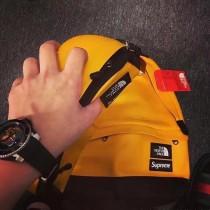 潮客 小羊皮雙肩背包 尺碼(44CM*40CM) 顏色:黑色 黃色 紅色