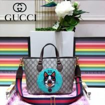 GUCCI-473887  古馳2018潮流時尚新款經典原版皮寵物系列手提斜背包