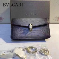 BVLGARI 37044-2 高貴奢侈Seprentl Forever原單意大利蜥蜴紋彩色蛇頭扣手拿晚宴包