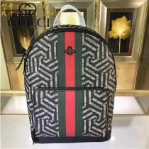 GUCCI-406370  古馳2018潮流時尚新款經典原版皮男士休閒雙肩包